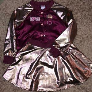 Girls Bomber Jacket & Skirt Set!